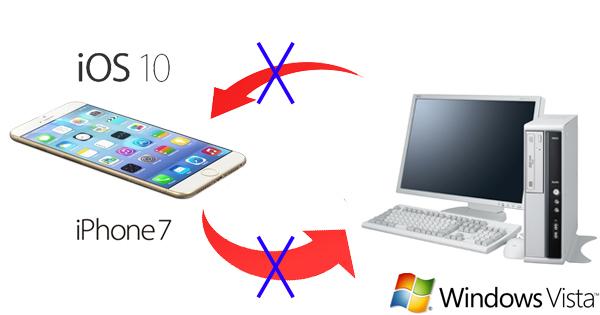 【トラブル解決】Windows VistaにバックアップしたデータをiPhone7で復元する方法
