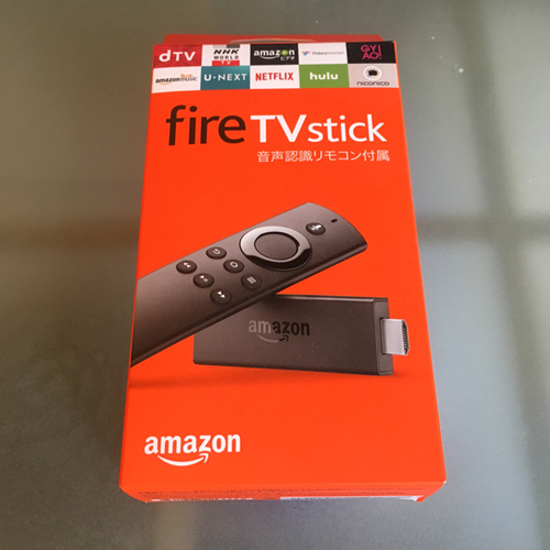 fireTVstickの外箱